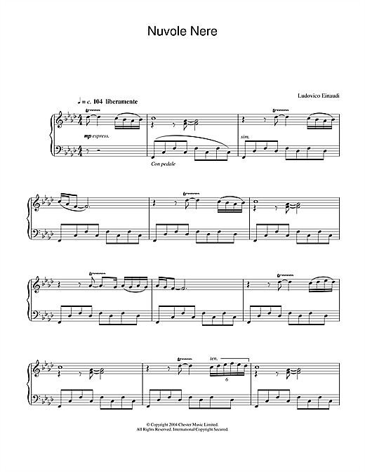 Download Ludovico Einaudi 'Nuvole Nere' Digital Sheet Music Notes & Chords and start playing in minutes