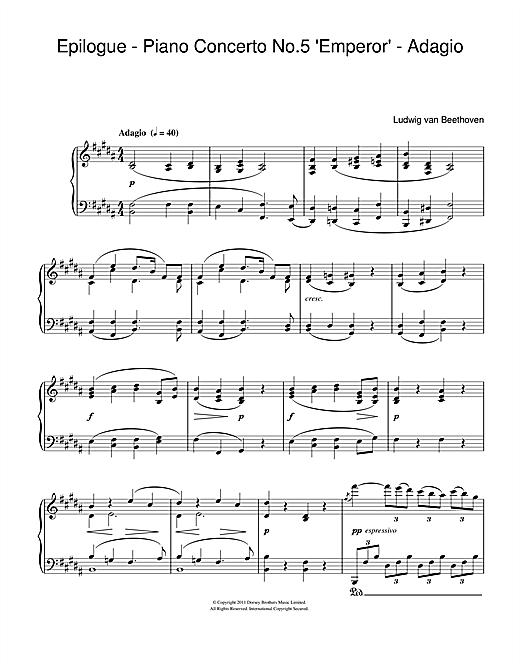 Download Ludwig van Beethoven 'Epilogue (Piano Concerto No.5