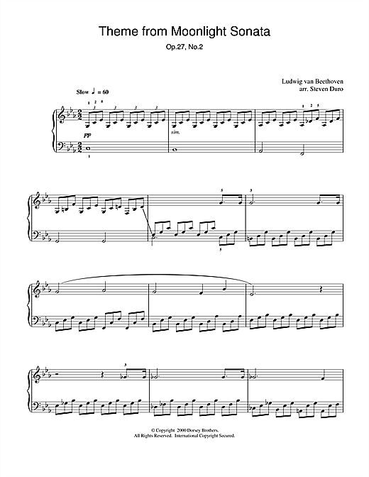 Download Ludwig van Beethoven 'Moonlight Sonata, 1st Movement, Op.27, No.2' Digital Sheet Music Notes & Chords and start playing in minutes