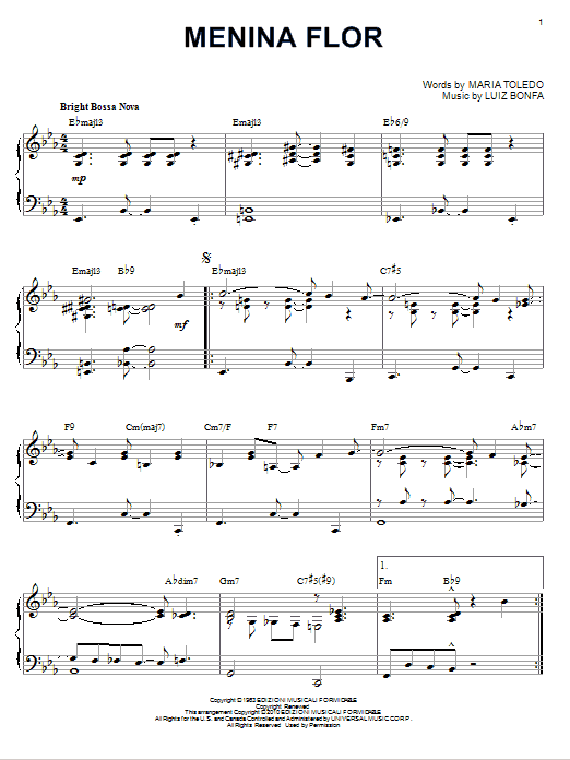Download Luiz Bonfa 'Menina Flor' Digital Sheet Music Notes & Chords and start playing in minutes