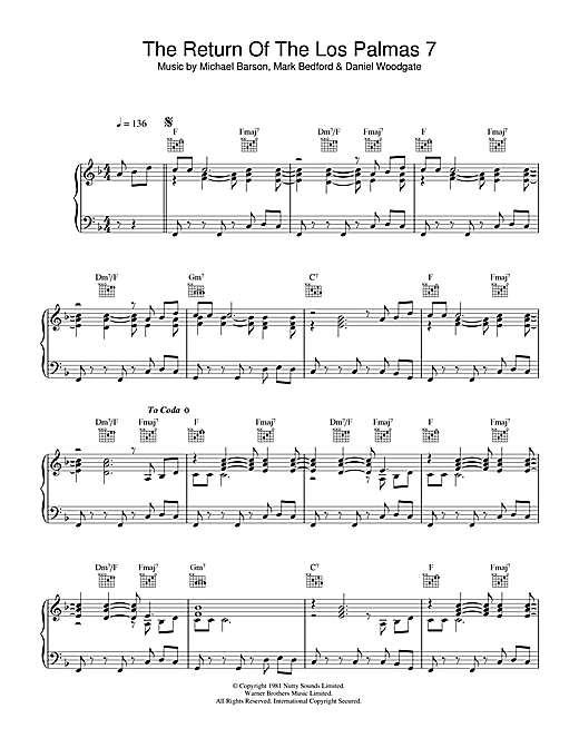 Download Madness 'Return Of The Los Palmas 7' Digital Sheet Music Notes & Chords and start playing in minutes