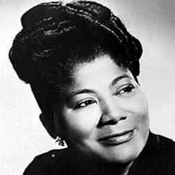 Download or print His Eye Is On The Sparrow Sheet Music Notes by Mahalia Jackson for Piano