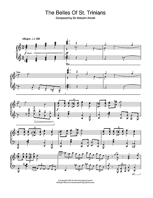 Download Malcolm Arnold 'The Belles Of St. Trinians' Digital Sheet Music Notes & Chords and start playing in minutes