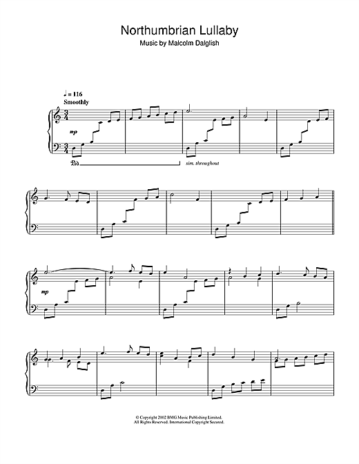 Download Malcolm Dalglish 'Northumbrian Lullabye' Digital Sheet Music Notes & Chords and start playing in minutes