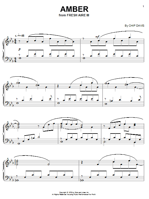 Download Mannheim Steamroller 'Amber' Digital Sheet Music Notes & Chords and start playing in minutes