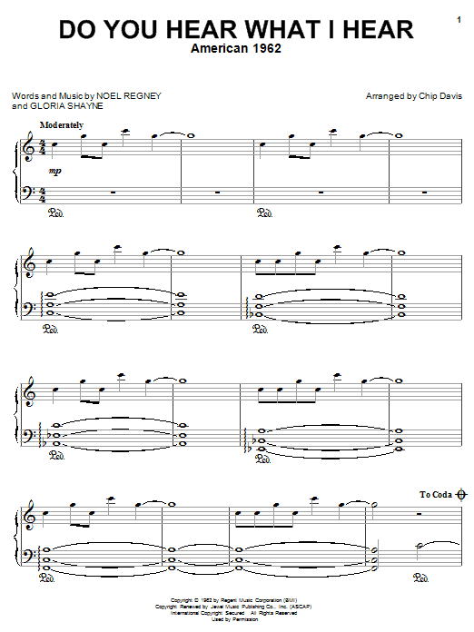 Mannheim Steamroller Do You Hear What I Hear sheet music notes and chords