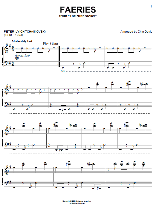 Mannheim Steamroller Faeries (Dance Of The Sugar Plum Fairies) sheet music preview music notes and score for Piano including 5 page(s)