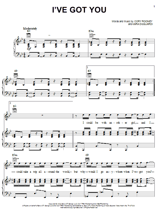Marc Anthony I've Got You sheet music notes and chords