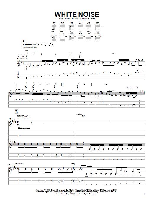 Marc Bonilla White Noise sheet music notes and chords