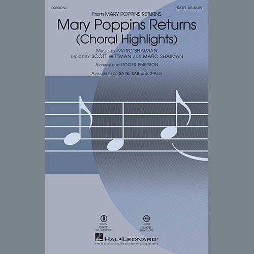 Marc Shaiman & Scott Wittman Mary Poppins Returns (Choral Highlights) (arr. Roger Emerson) - Bass profile picture