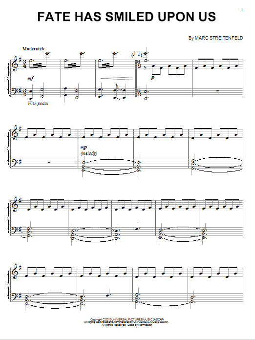 Download Marc Streitenfeld 'Fate Has Smiled Upon Us' Digital Sheet Music Notes & Chords and start playing in minutes
