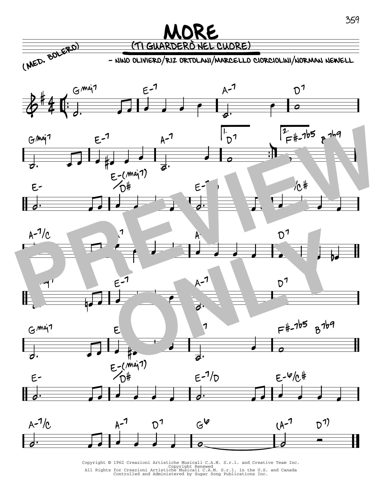 Marcello Ciorciolini More (Ti Guardero Nel Cuore) sheet music preview music notes and score for Guitar Tab including 3 page(s)