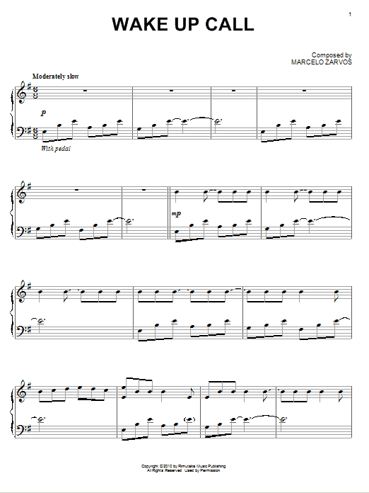 Download Marcelo Zarvos 'Wake Up Call' Digital Sheet Music Notes & Chords and start playing in minutes