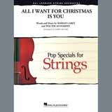 Download or print All I Want for Christmas Is You (arr. Larry Moore) - Violin 1 Sheet Music Notes by Mariah Carey for Orchestra