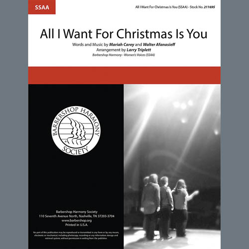 Mariah Carey All I Want For Christmas Is You (arr. Larry Triplett) profile picture