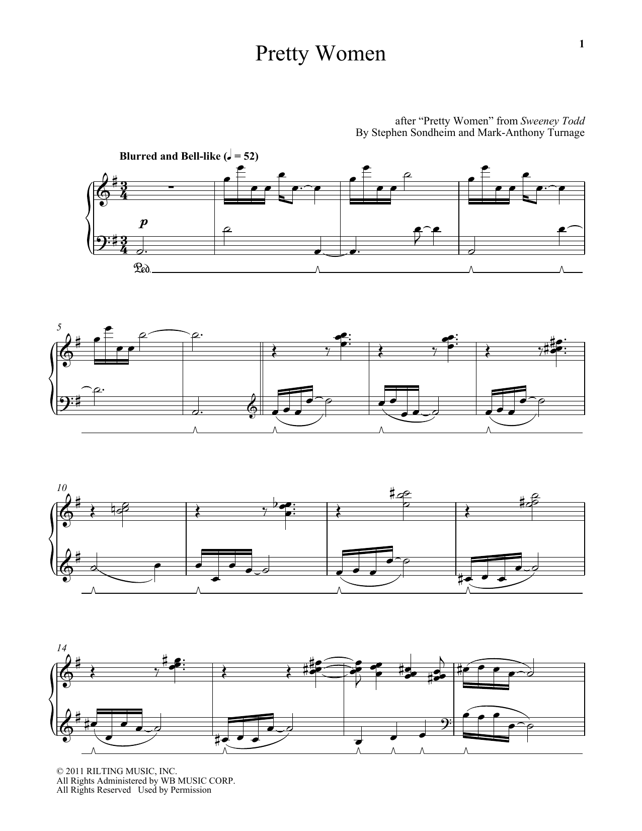 Download Mark-Anthony Turnage 'Pretty Women' Digital Sheet Music Notes & Chords and start playing in minutes