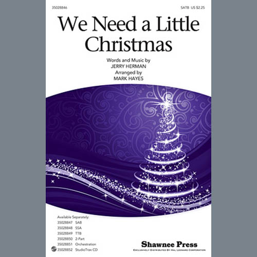 Mark Hayes We Need a Little Christmas - Bb Clarinet 1,2 pictures
