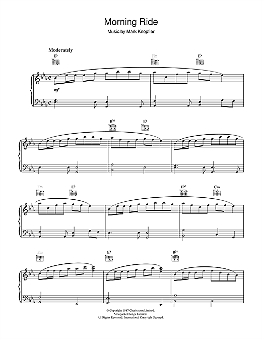Download Mark Knopfler 'Morning Ride (from The Princess Bride)' Digital Sheet Music Notes & Chords and start playing in minutes
