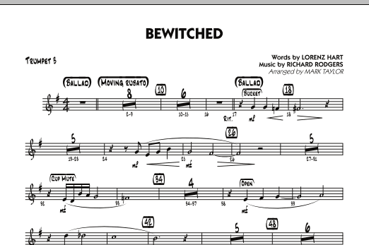 Mark Taylor Bewitched - Trumpet 3 sheet music preview music notes and score for Jazz Ensemble including 1 page(s)