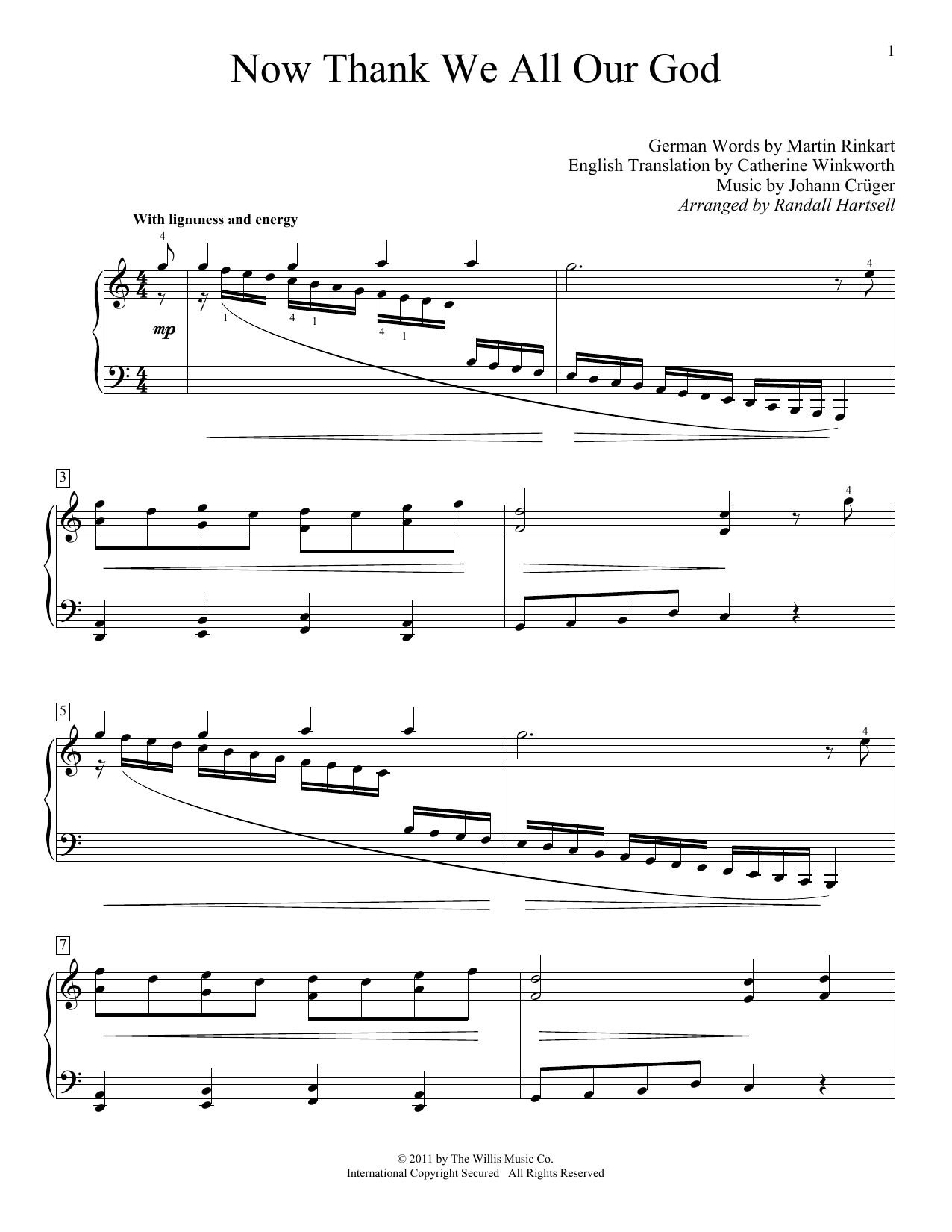 Download Martin Rinkart 'Now Thank We All Our God' Digital Sheet Music Notes & Chords and start playing in minutes