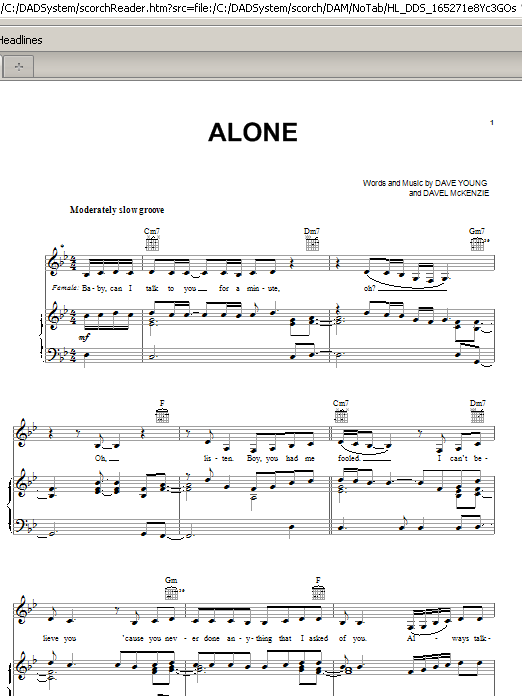 Mary J. Blige Alone sheet music preview music notes and score for Piano, Vocal & Guitar (Right-Hand Melody) including 7 page(s)