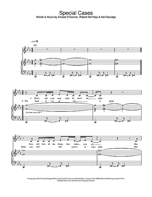 Massive Attack Special Cases sheet music notes and chords