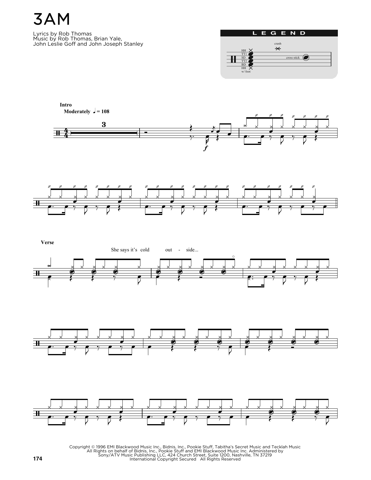 Matchbox Twenty 3 AM sheet music preview music notes and score for Guitar Tab including 9 page(s)