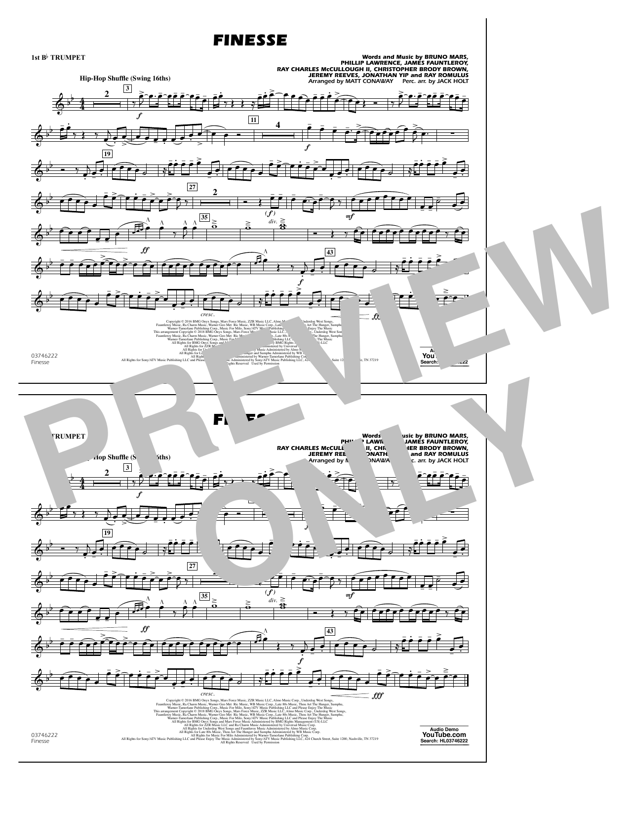 Download Matt Conaway 'Finesse - 1st Bb Trumpet' Digital Sheet Music Notes & Chords and start playing in minutes