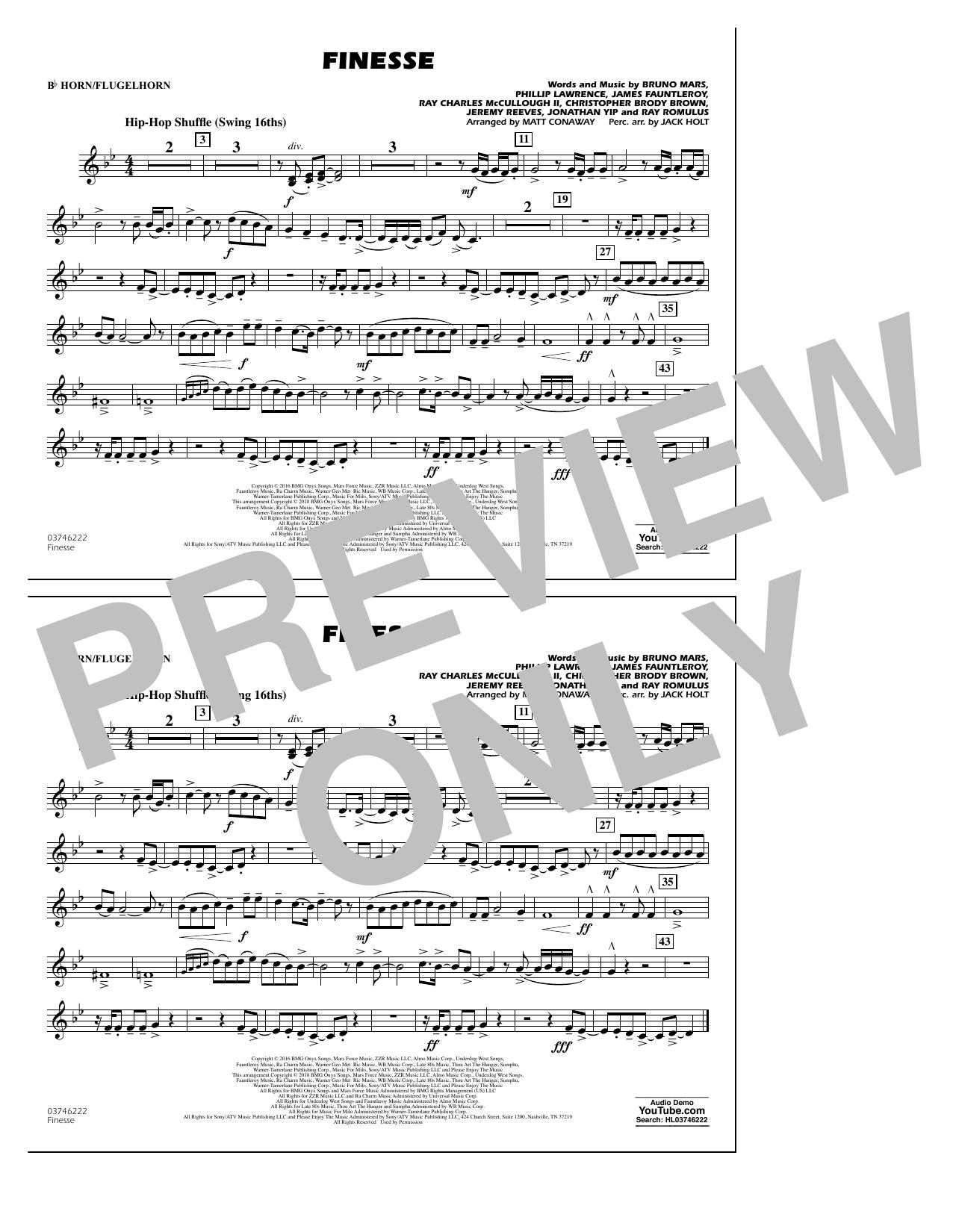 Download Matt Conaway 'Finesse - Bb Horn/Flugelhorn' Digital Sheet Music Notes & Chords and start playing in minutes