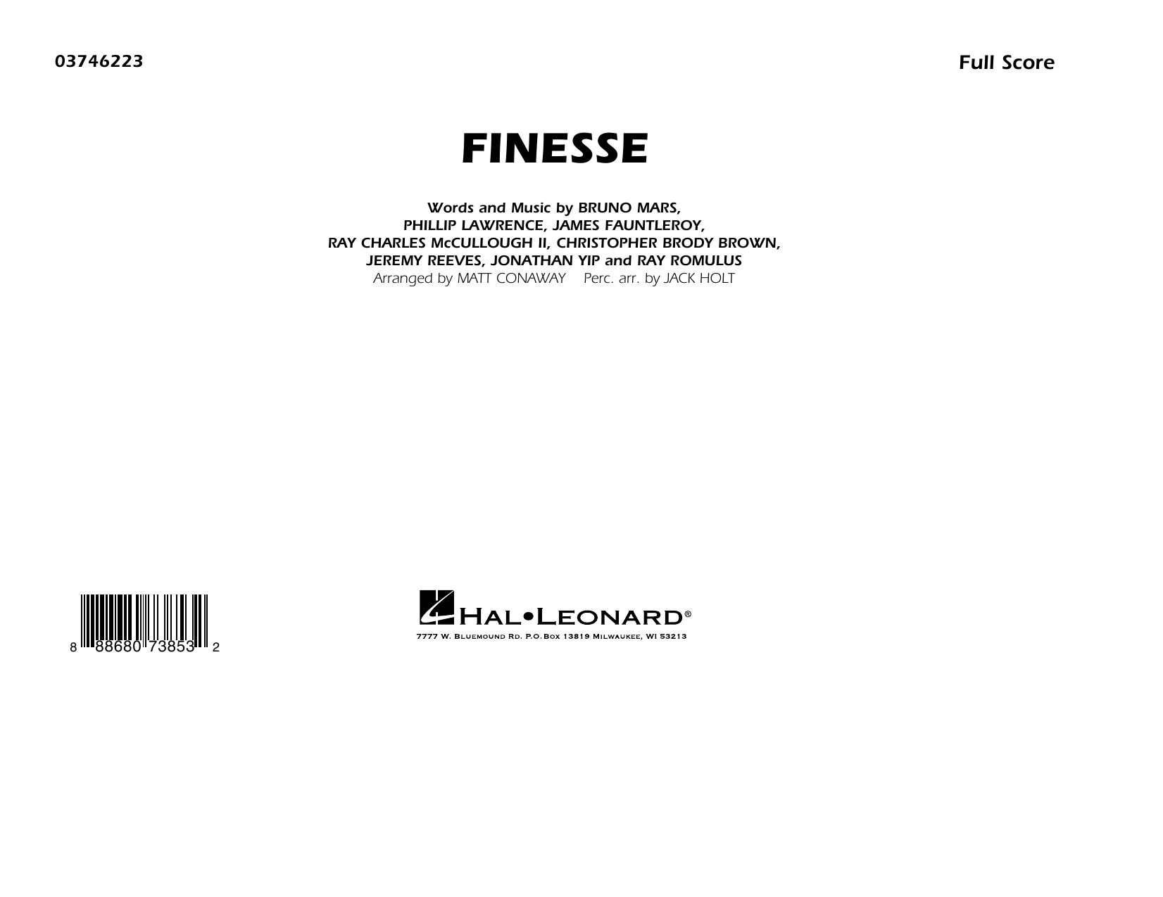 Download Matt Conaway 'Finesse - Conductor Score (Full Score)' Digital Sheet Music Notes & Chords and start playing in minutes
