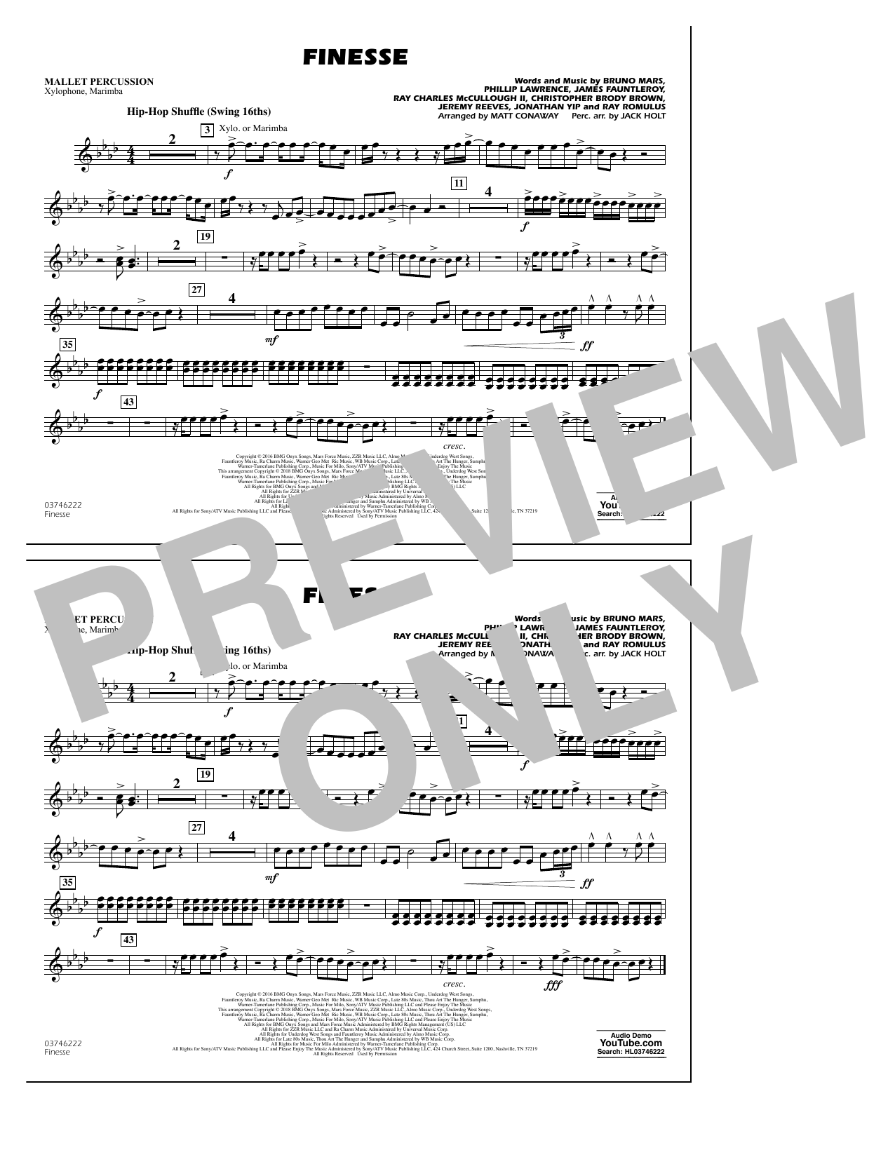 Download Matt Conaway 'Finesse - Mallet Percussion' Digital Sheet Music Notes & Chords and start playing in minutes