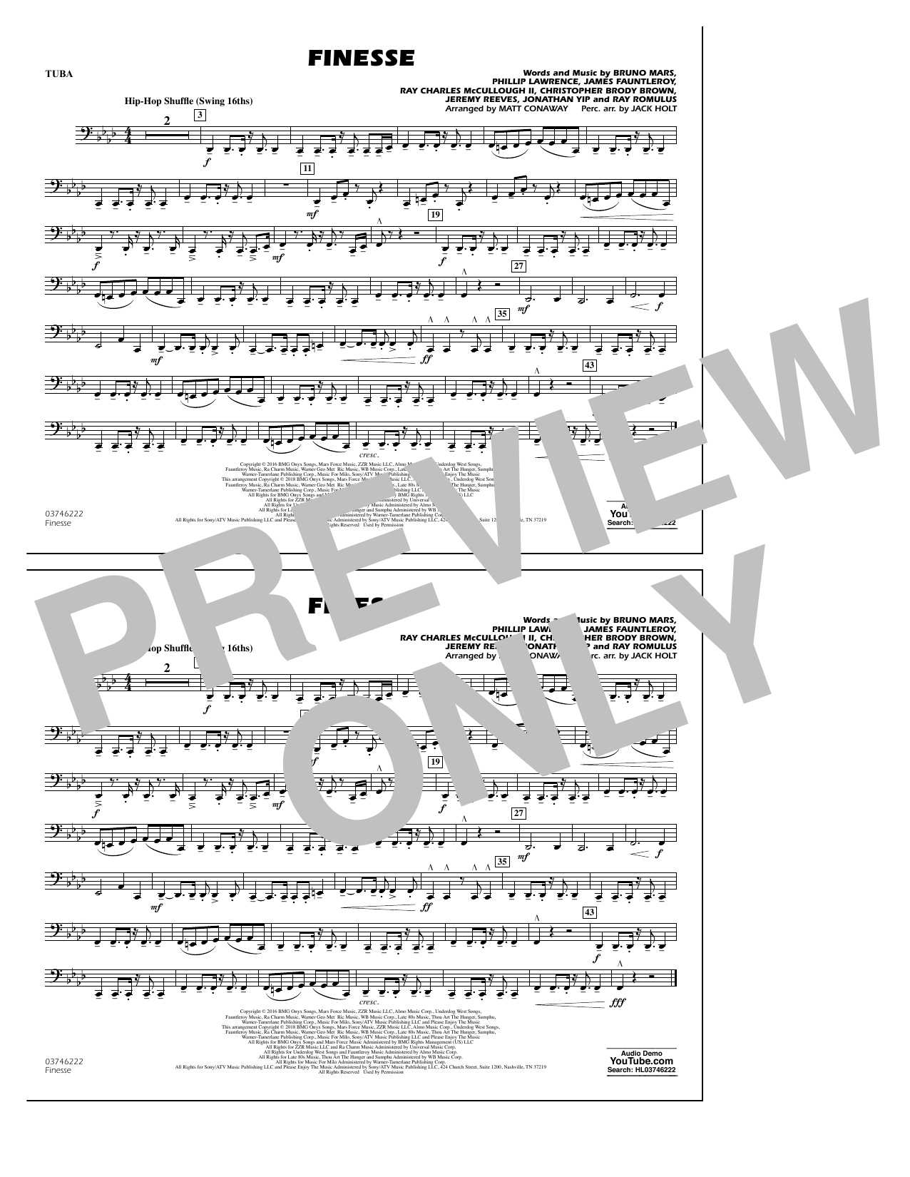 Download Matt Conaway 'Finesse - Tuba' Digital Sheet Music Notes & Chords and start playing in minutes