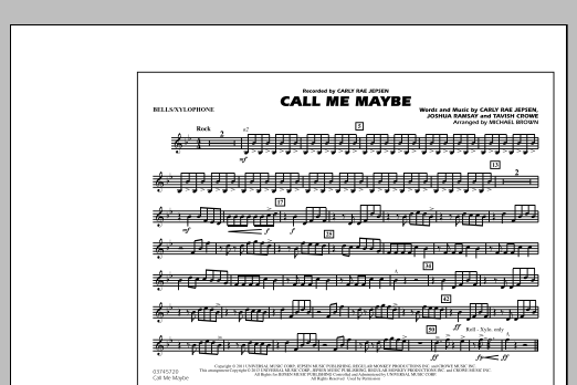 Michael Brown Call Me Maybe - Bells/Xylophone sheet music notes and chords