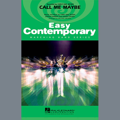 Michael Brown Call Me Maybe - Eb Baritone Sax pictures
