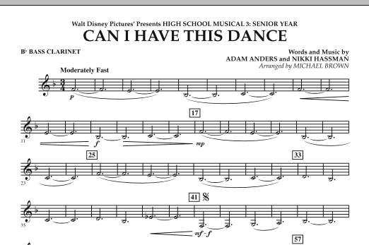 Michael Brown Can I Have This Dance? (from High School Musical 3) - Bb Bass Clarinet sheet music notes and chords