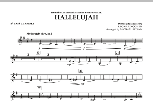 Michael Brown Hallelujah - Bb Bass Clarinet sheet music preview music notes and score for Concert Band including 1 page(s)