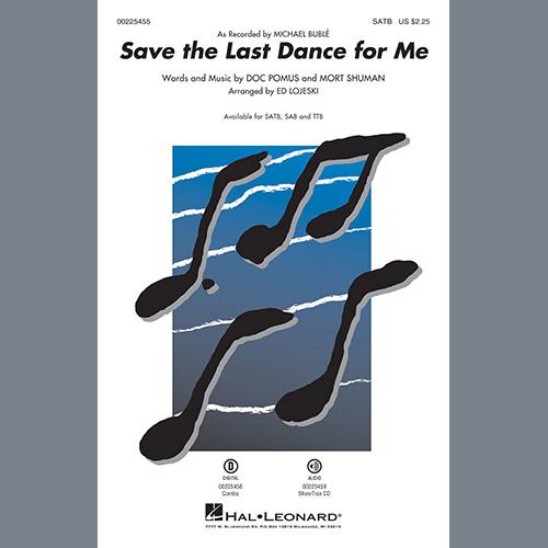 Michael Bublé Save the Last Dance for Me (arr. Ed Lojeski) - Baritone Sax profile picture