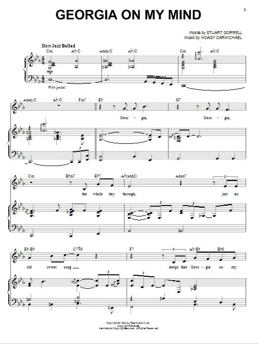 Michael Buble Georgia On My Mind sheet music preview music notes and score for E-Z Play Today including 2 page(s)