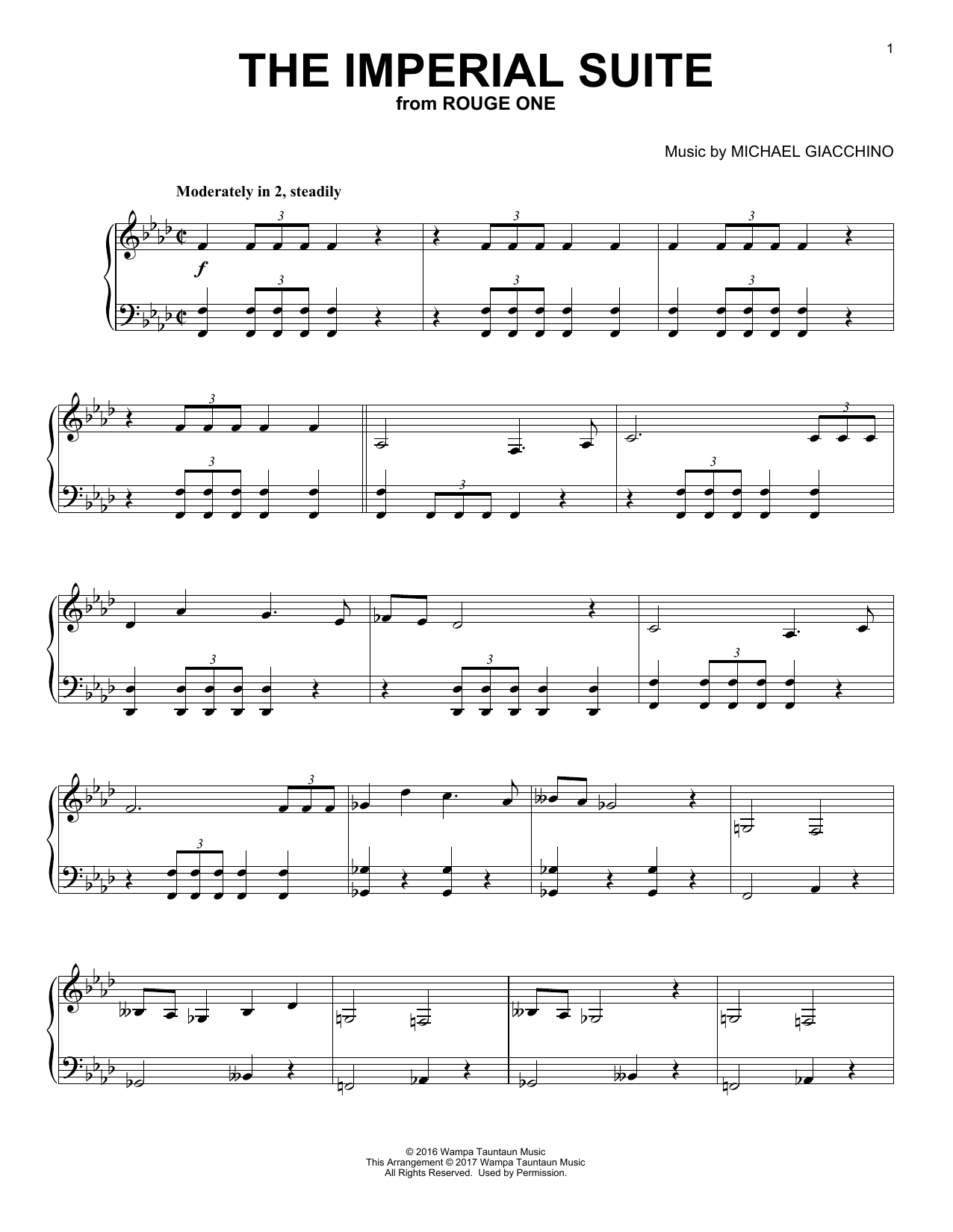 Download Michael Giacchino 'The Imperial Suite' Digital Sheet Music Notes & Chords and start playing in minutes