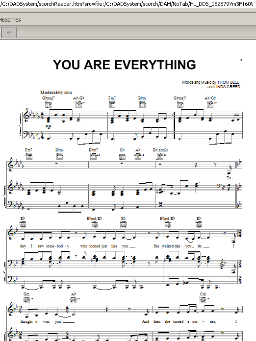Michael McDonald You Are Everything sheet music preview music notes and score for Piano, Vocal & Guitar (Right-Hand Melody) including 4 page(s)