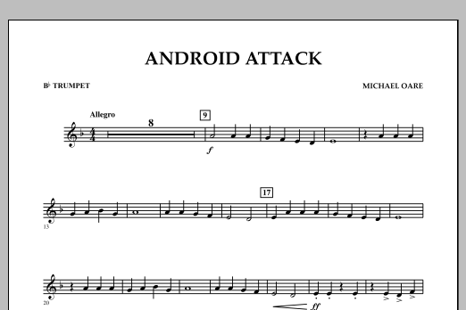 Michael Oare Android Attack - Bb Trumpet sheet music notes and chords