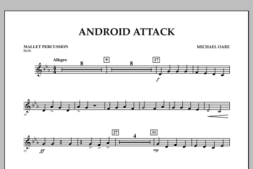 Michael Oare Android Attack - Mallet Percussion sheet music notes and chords