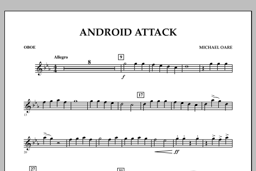 Michael Oare Android Attack - Oboe sheet music notes and chords