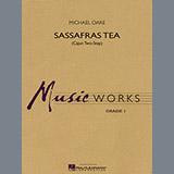 Download Michael Oare Sassafras Tea (Cajun Two-Step) - Bb Clarinet 2 Sheet Music arranged for Concert Band - printable PDF music score including 1 page(s)