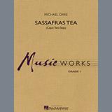 Download Michael Oare Sassafras Tea (Cajun Two-Step) - Eb Baritone Saxophone Sheet Music arranged for Concert Band - printable PDF music score including 1 page(s)