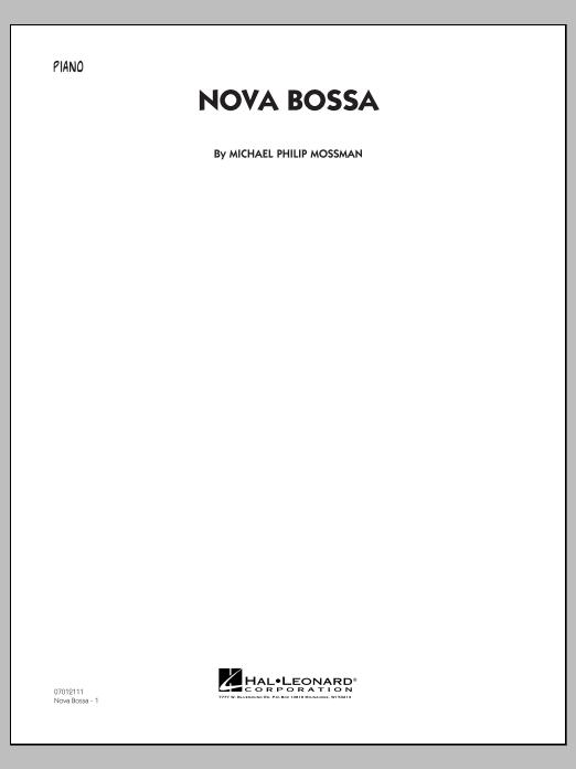 Michael Philip Mossman Nova Bossa - Piano sheet music notes and chords