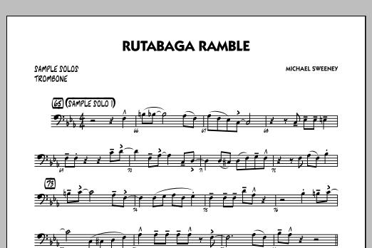 Michael Sweeney Rutabaga Ramble - Trombone Sample Solo sheet music notes and chords