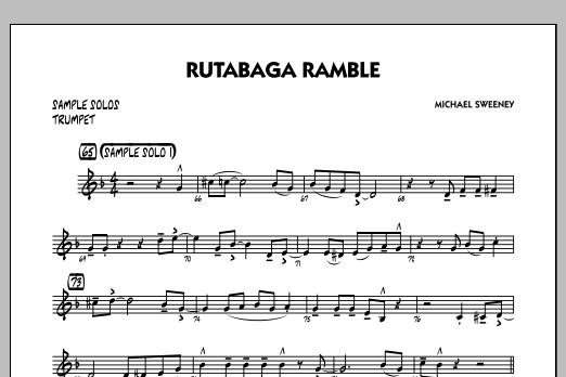 Michael Sweeney Rutabaga Ramble - Trumpet Sample Solo sheet music notes and chords