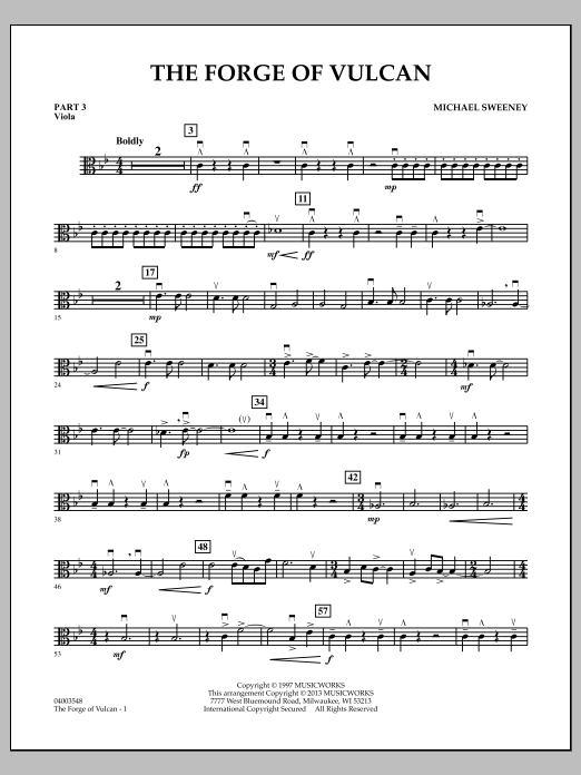 Michael Sweeney The Forge of Vulcan - Pt.3 - Viola sheet music notes and chords