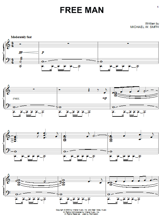 Download Michael W. Smith 'Free Man' Digital Sheet Music Notes & Chords and start playing in minutes